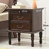 ZR- Massivholz Nachttisch, Kiefer Lagerschrank/Schrank - Schmaler Schrank - Weiße Seite - Wanddekoration (Farbe : Walnut color-45cm)