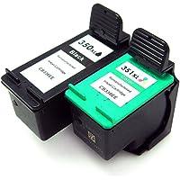 Cartuccia d'inchiostro Generico rigenerata in sostituzione di HP 350XL HP 351XL (1x Nero, 1x Farbe, (Rigenerata Sostituzione)
