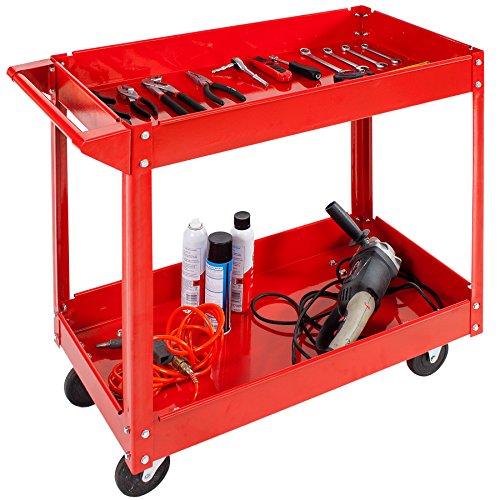 TecTake® 2 Etagen Werkstattwagen Werkzeugwagen Rollwagen Montagewagen Wagen Werkstatt - 2