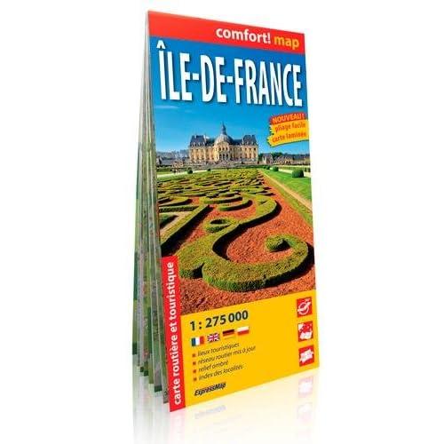Ile de France 1/275.000 (Laminee-Gd Format)