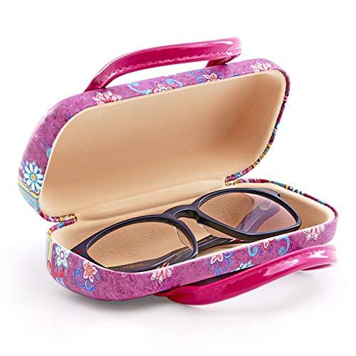 PracticDomus - Funda Rígida Universal para Gafas con Sistema de Cierre Flex y Asas Flexibles, Interior Forrado en Símil de Terciopelo. Colección Mandalas