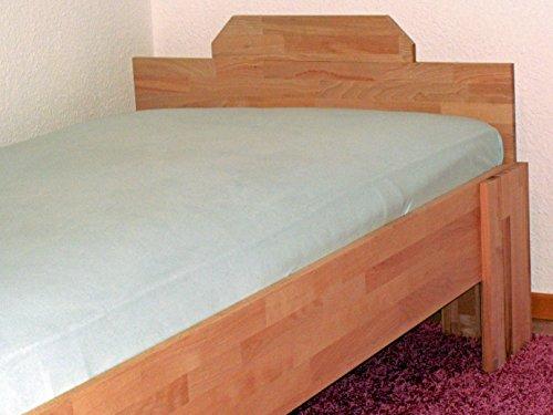 Komfortbett Buche massiv BV-VERTRIEB 100x200cm mit Extra Liegehöhe Bett für schwere Personen – (2988)