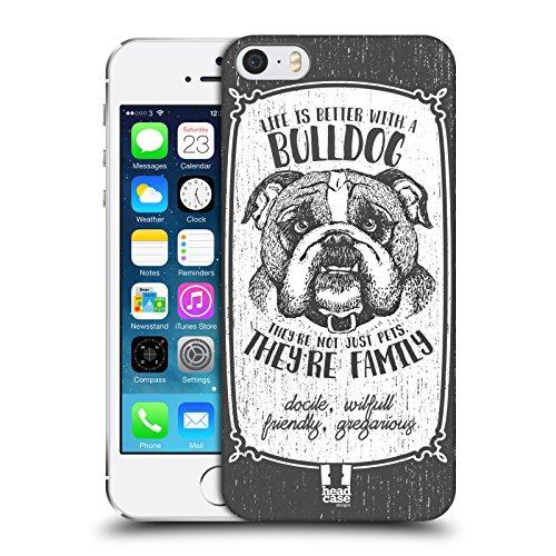 Head Case Designs Chihuahua Hunderasse Handgezeichnet Ruckseite Hülle für Apple iPhone 6 / 6s Bulldog