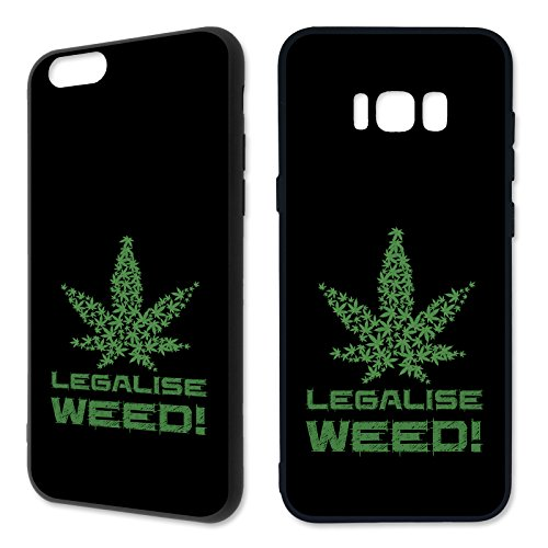 Handyhülle Cannabis für Apple iPhone Hardcase Marihuana Weed Grass Hanf Canabis, Kompatibel mit Handy:Apple iPhone 6 / 6S, Hüllendesign:Design 1 | Hardcase Schwarz