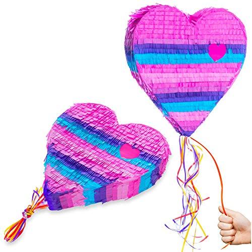 Goods & Gadgets Pinata Party-Dekoration zum Befüllen mit Süßigkeiten für Kinder-Geburtstag Hochzeit Feier - Herz