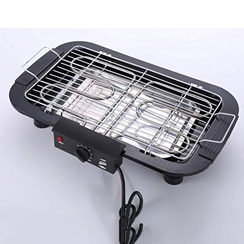BHDYHM Teppanyaki Elektro-Grillplatte, Elektro-Grill Indoor Hot Pot Multifunktional, Indoor Teppanyaki Grill Shabu Shabu Pot mit Teiler
