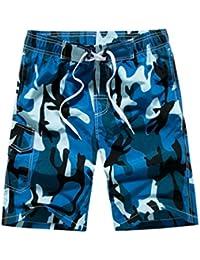 YoungSoul Bañador Camuflaje para Hombre - Trajes de baño Short de Playa  surferos - Boardshorts bañadores 3af5a8fed03