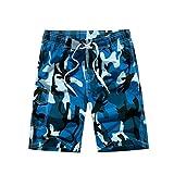 YoungSoul Bañador camuflaje para hombre - Trajes de baño short de playa surferos - Boardshorts bañadores de natación Azul EU XL/Etiqueta XXL