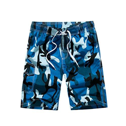 YoungSoul Herren Camouflage Badehose / Surfer Boardshorts / Beachshorts Badeshorts Sommer Strand / Knielang