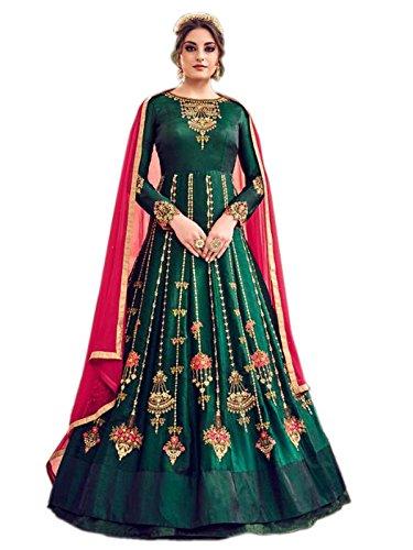 Shoppingover Designer Party wear Latest Design Indian Salwar Kameez Anarkali Suit Fabric...