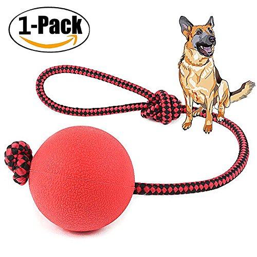 Muskel Latex Anzug (Chickwin Hundespielzeug Ball, 1PC Rote Solide Biss- Beständig Elastisch Hund Ball Spielzeug Hunde Training Spielen Aus Naturkautschuk Geeignet Für Interaktives Spiel (L, Knoten)