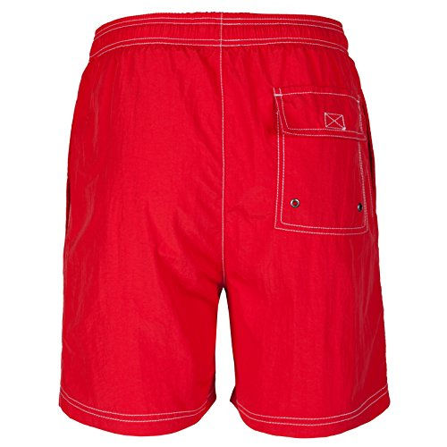 Henleys Homme Short Natation Rouge