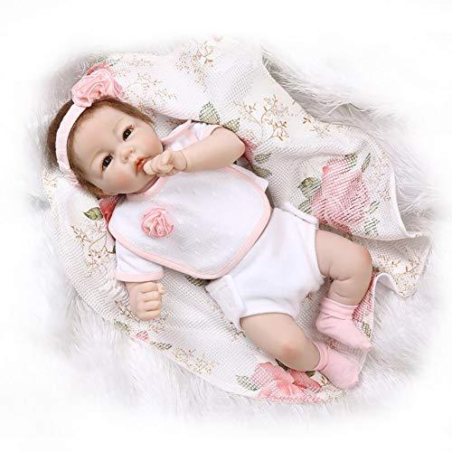 Muñecas Honey MoMo Reborn Baby Dolls, 50 cm, realista, para bebé recién nacido, muñeca de niña de vinilo de silicona que parece jugar renacio