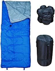 24H-SALE! Saco de dormir, azul. Lightweight Sleeping Bag by RevalCamp. Indoor & Outdoor use. Great for Kids, Teens & Adults. Ultra light and compact bags are perfect for hiking, backpacking, camping & travel
