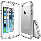 Rearth Ringke Fusion - Carcasa trasera personalizable para Apple iPhone 5/5S, transparente