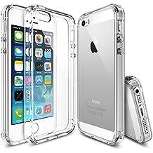 Rearth Ringke Fusion - Carcasa trasera personalizable para Apple iPhone 5/5S, transparente