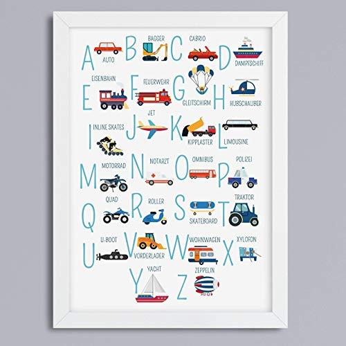 ABC-Fahrzeuge Kunstdruck ohne Rahmen