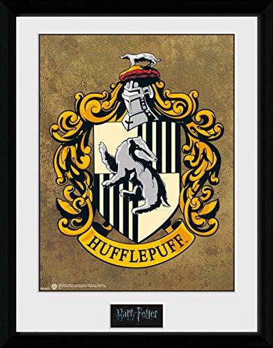 1art1 100206 Harry Potter - Hufflepuff, Wappen Gerahmtes Poster Für Fans Und Sammler 40 x 30 cm -