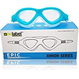 Childrens Swimming Goggles | Junior Series Epic Kids Swim Goggles are Leak Free and Have UV Protection | Adjustable Fast Fit System