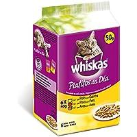 Whiskas Bolsitas para Gatos Platitos del Día Carne Blanca En Salsa - Paquete de 6 x 50 gr - Total: 300 gr