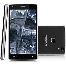Doogee X5 Max Pro - 4G Smartphone Libre Android 6.0 (Pantalla 5.0'' IPS, MT6737M Quad Core 1.3GHz, 2G Ram, 16G Rom, Dual Sim, Dual ID, Smart Wake, Huella Dactilar) (Negro)