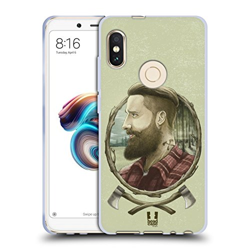 Head Case Designs Holzhacker Männliche Hipsters Soft Gel Hülle für Xiaomi Redmi Note 5 / Pro