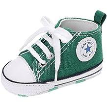 Auxma Zapatos para bebé zapatilla de deporte antideslizante del zapato de lona de la zapatilla de deporte Para 3-6 6-12 12-18 M