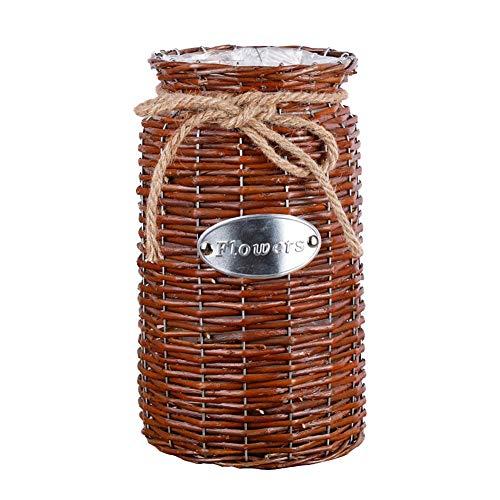 Golden.y, vaso in vimini alto da pavimento, realizzato a mano, ideale come regalo per matrimoni e decorazioni per la casa b