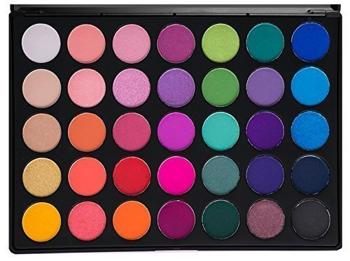 Morphe Pro 35 Color Eyeshadow Makeup Palette - GLAM (High Pigmented) 35B by Morphe Brushes (Make-up Von Mac Cosmetics Professional)