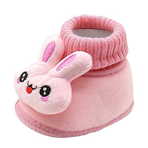 Elecenty scarpe neonato da coniglio bambino neonato cartone animato scarpette morbide suola prewalker stivaletto invernali sneaker