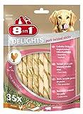 8in1 Delights Pork Twisted Sticks, gesunder Kausnack für Hunde, 35 Stück (1 x 190 g)