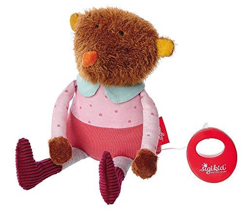 sigikid, Mädchen, Spieluhr, Stofftier Bär, Kindergarten Freunde, Rosa/Rot, 41362