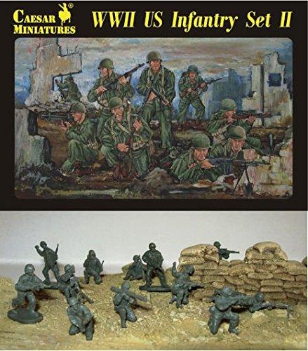Caesar Miniatures 1/72 fanteria americana della seconda guerra mondiale, #Set II