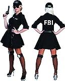 Kostüm FBI Agent Damen Größe 32/34 schwarz 3 teilig mit Basecap