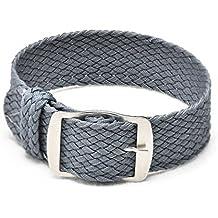 Ullchro Nylon Bracelet Montre Remplacer Haute Qualité Perlon Tissé Bracelet  Montre NATO Homme Femme - 14 dddc52652cb