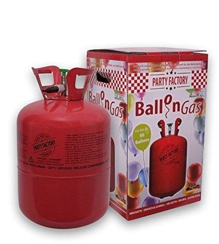 Helium / Ballon-Gas / Einweg-Flasche 420 Liter Inhalt für ca. 50 Luft-Ballons / Party-Zubehör Balloons / Folien-Ballons / Hochzeits-Zubehör / 99,996% Reines Helium