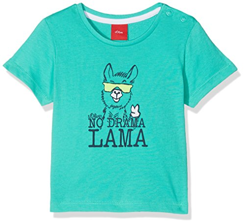 s.Oliver Baby-Jungen T-Shirt 59.806.32.5198, Türkis (Turquoise 6605), 86