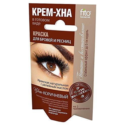 fitocosmetic Wimpern- und Augenbrauenfarbe Henna Creme Farbton: Braun