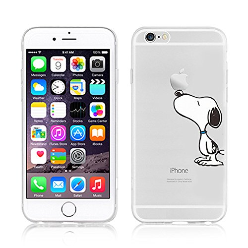 Ronney Support de Disney Cartoon Transparent Coque souple en TPU pour Apple iPhone 5/5S/5 C/5Se SNOOPY