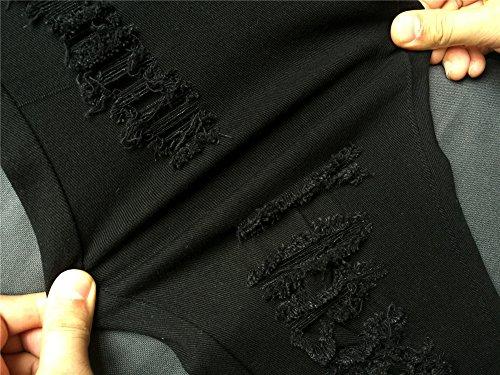 Denimhosen Füße Full Slim Stretch Taille Cowboy Fußhosen Jeans Frau Black