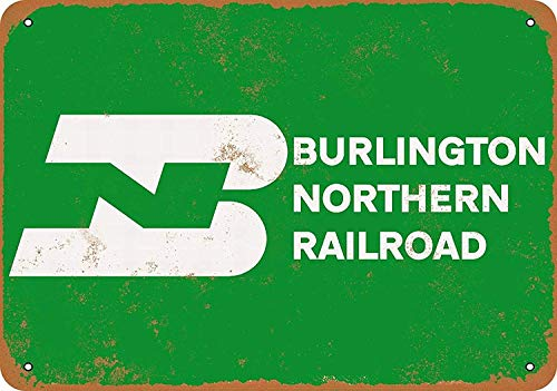 HALEY GAINES Burlington Northern Railroad Metall Blechschilder Dekoration Retro Stil Schild Vintage Aluminium Poster Original Wandkunst Für Bar Cafe Küchen Garagen 20 * 30cm