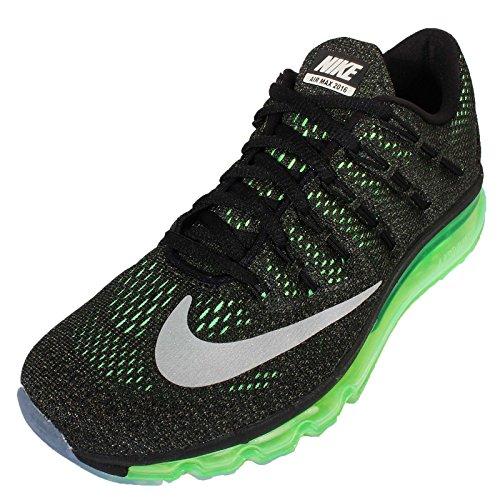 Nike Air Max 2016 (Gs) Scarpe Sportive, Ragazza Negro / Plateado (Blk / Rflct Slvr-Vltg Grn-Mdm Ol)