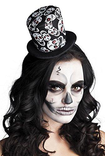 een Kostüm Skelett Hut Haarreif Strass Besatz Erwachsenen Kopfbedeckung, Mehrfarbig ()