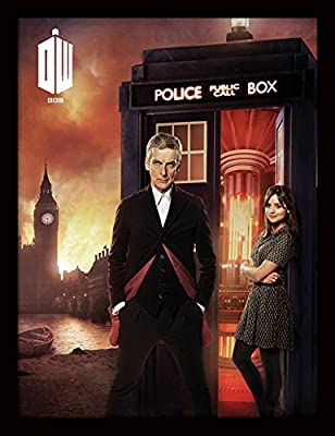 "Doctor Who 30 x 40 cm Affiche encadrée ""Londres Fire"