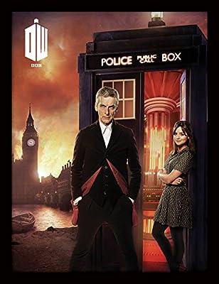 """Doctor Who 30x 40cm Affiche encadrée """"Londres Fire"""