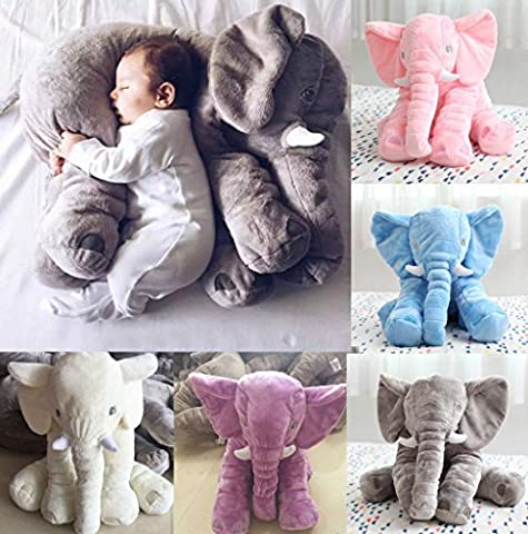 Elephant Pillow(Baby Toys)/Elephant Stuffed Plush Pillow Sleeping Cushion Pillow Kids Comfort Toy (Blue)