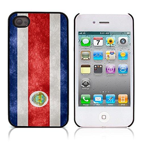 Graphic4You Vintage Uralt Flagge Von El Salvador Salvadorianisch Design Harte Hülle Case Tasche Schutzhülle für Apple iPhone 4 und 4S Costa Rica Costaricaner