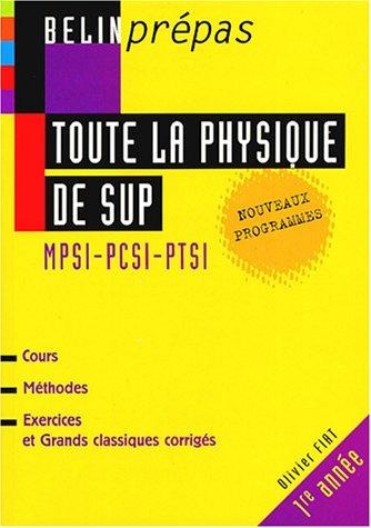 Toute la physique de Sup MPSI-PCSI-PTSI