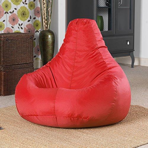 """Designer """"Recliner"""" Liegessel Gaming Sitz Sack – Zum Liegen und Spielen - Innen und Außen Sitzsack Kissen - Wasserabweisende, ein Sitzsack von Bean Bag Bazaar® - ROT"""