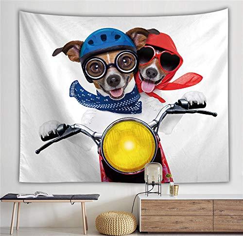 ZGMWDM Wandteppiche,Hunderennen Klassische Dekorative Wandkissen @ Home Tapisseriehintergrund Schlafzimmer Mode Persönlichkeit Q150X200